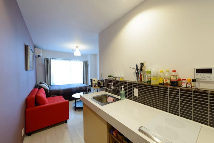 Stylish Central Family Apt. 3 Near Nishiki Market - Nakagyo Ward, Kyoto - Apartment