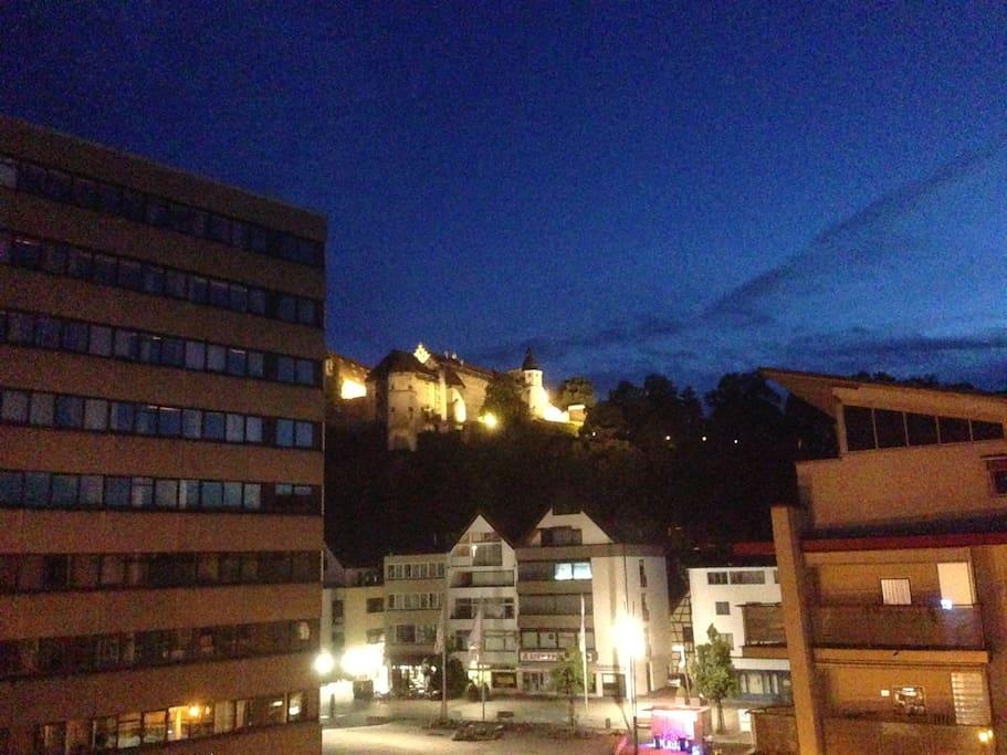 Nächtlicher Blick vom Balkon