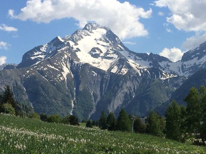 Les 2 Alpes Appart 5 pers Plein Sud, appart +garag