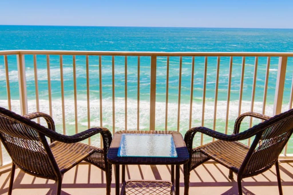 The emerald green waters of Panama City Beach are your backyard at Tidewater Beach Resort 1116