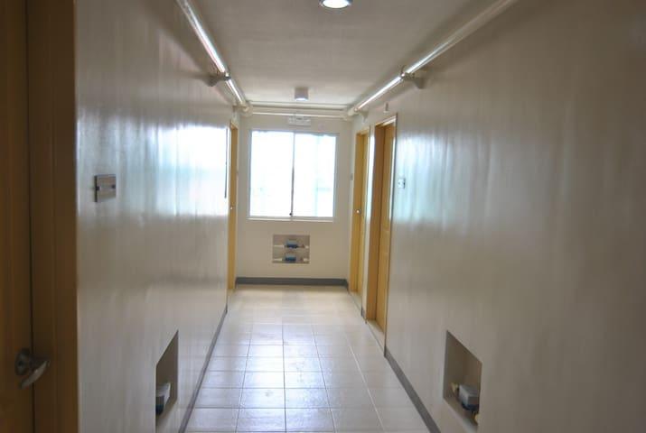 Hallway to the condo unit