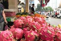 Morning market - fruits stall