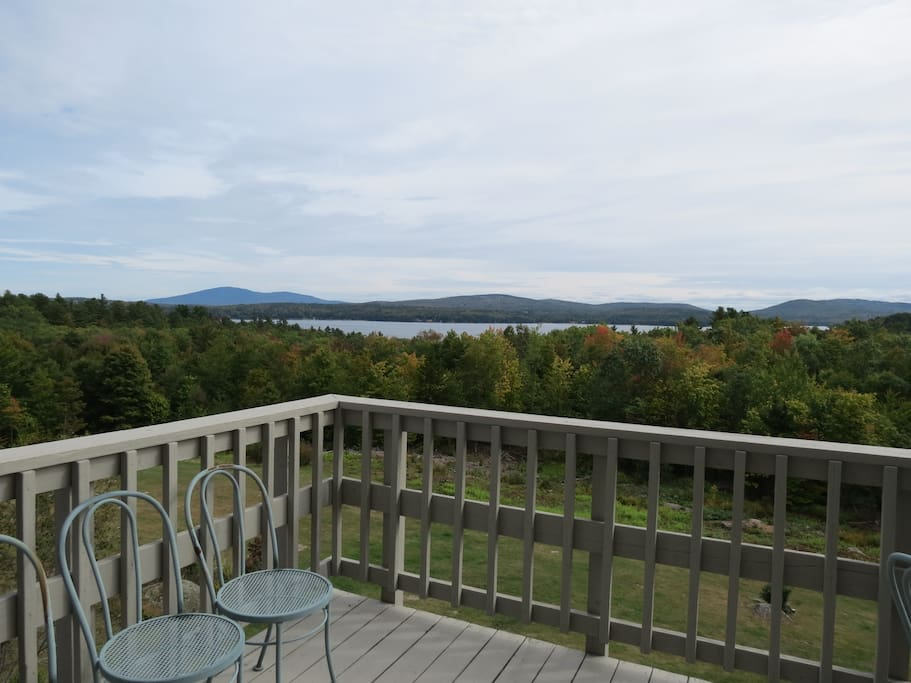 View of Lake Sunapee from the deck