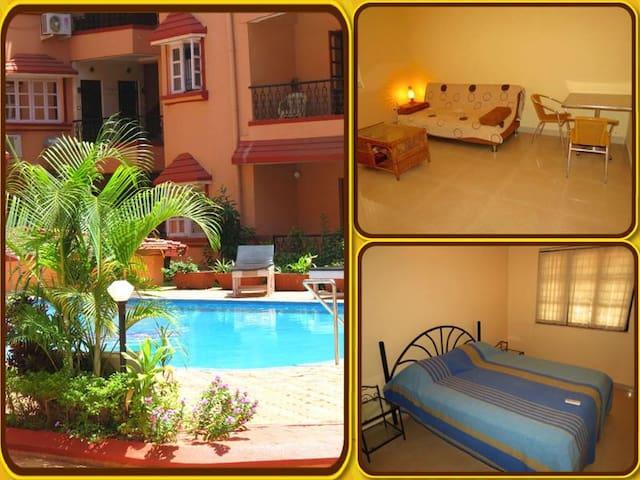 42) Serviced Apartment Kyle Gardens & WiFi - Calangute/Baga