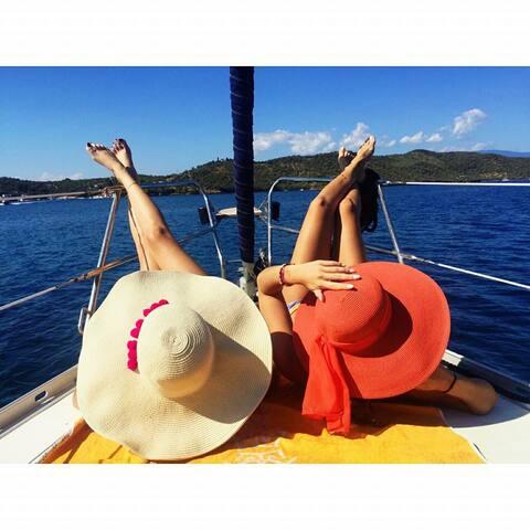 Sailing in Greece, Ionian sea boarding on Lefkada - Volo