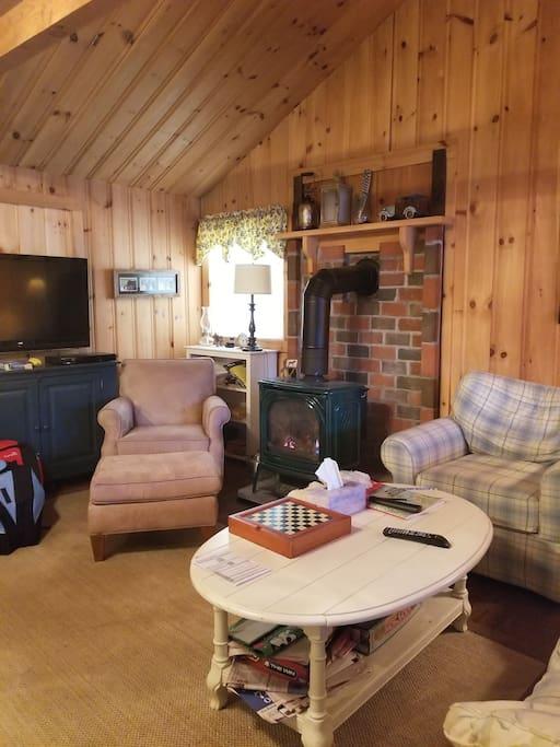 homey cabin feel