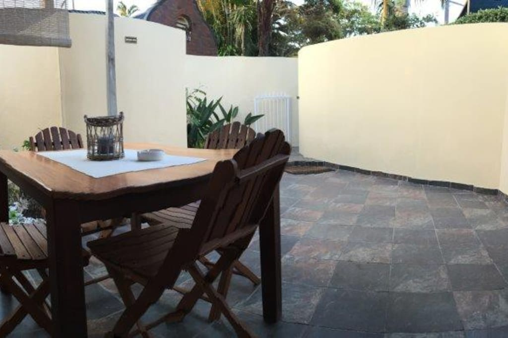 Courtyard/patio with BBQ facilities