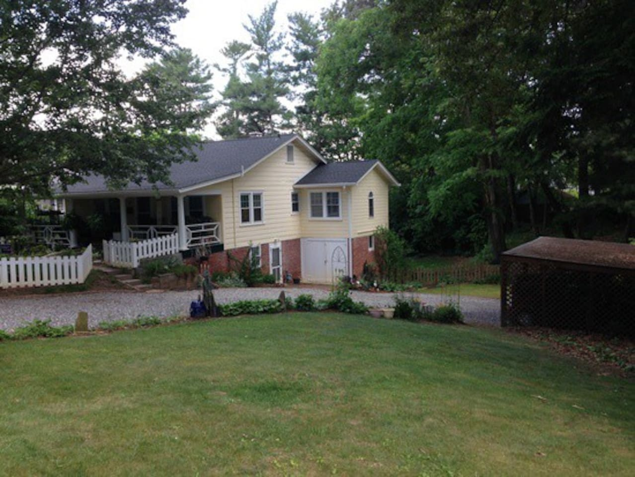 Large double lot in a great neighborhood.
