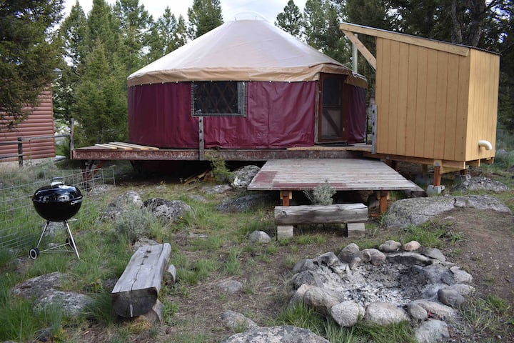 Yurt Next to Clarks Fork of Yellowstone River