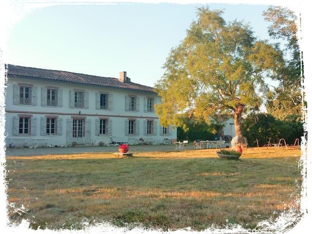 Chambre spacieuse dans belle maison avec piscine - Mondonville - Rumah
