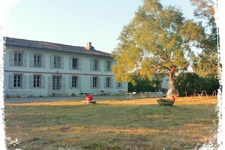 Chambre spacieuse dans belle maison avec piscine - Mondonville