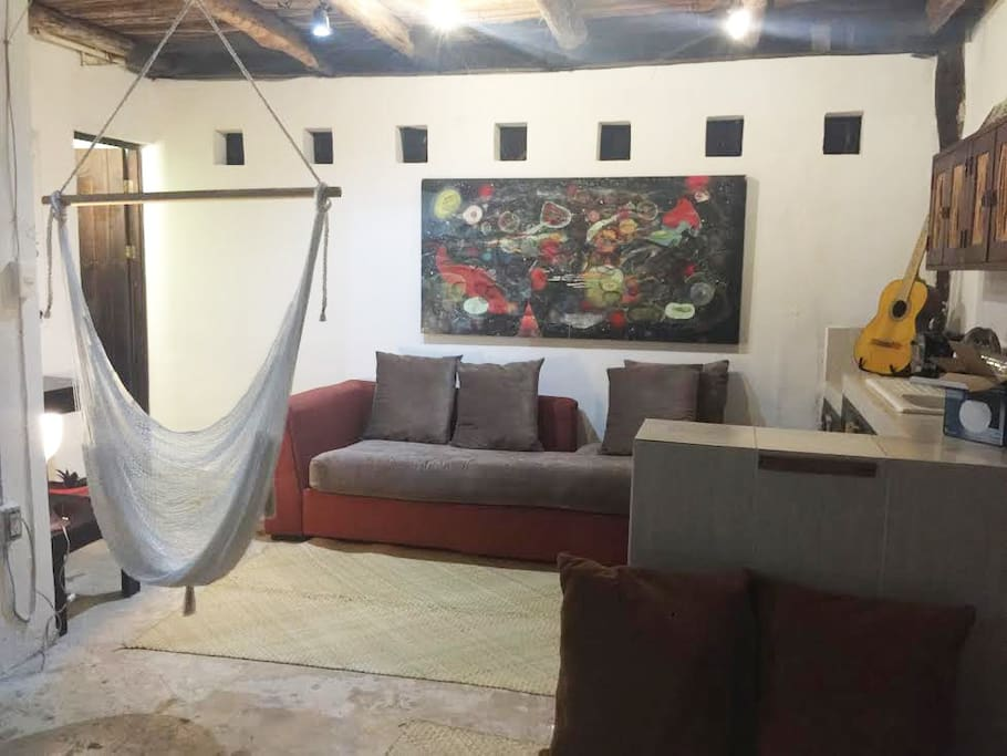 Spacious Lounge  in the ground level of cabaña