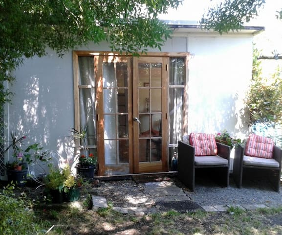 Budget, Self-contained granny flat-garden outlook.