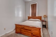 Queen bed with Bamboo mattress