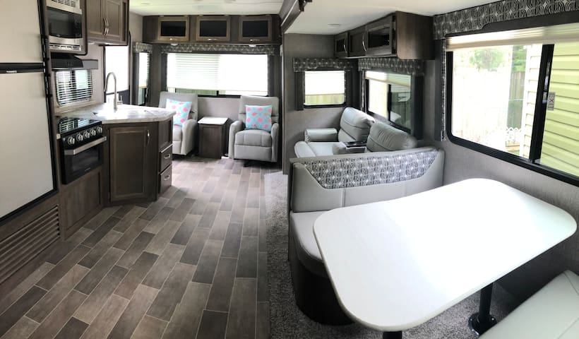 New 2019 trailer. Very quiet Home Away from Home!