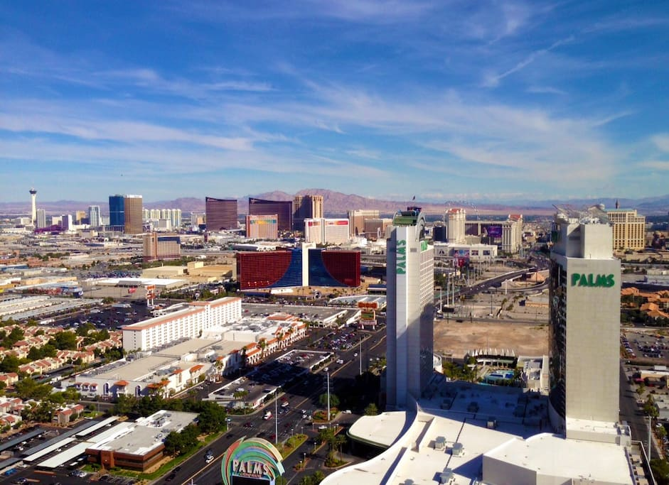 Strip View Daytime (Actual snapshot from my 53rd floor balcony - not a stock photo!)