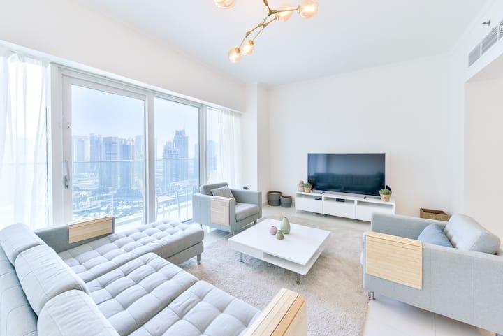 ★ Luxury 2BD | Sea Views | Dubai Marina ★