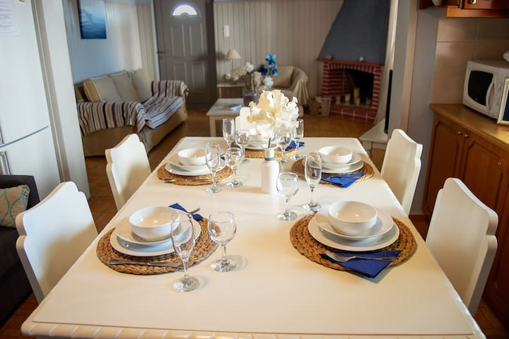 Spacious dining area up to 6!