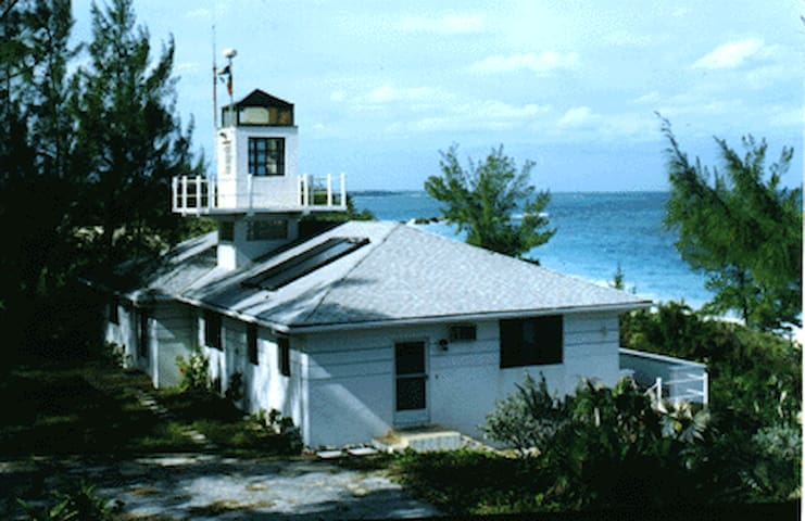 Real, Working Lighthouse with Secluded Beach