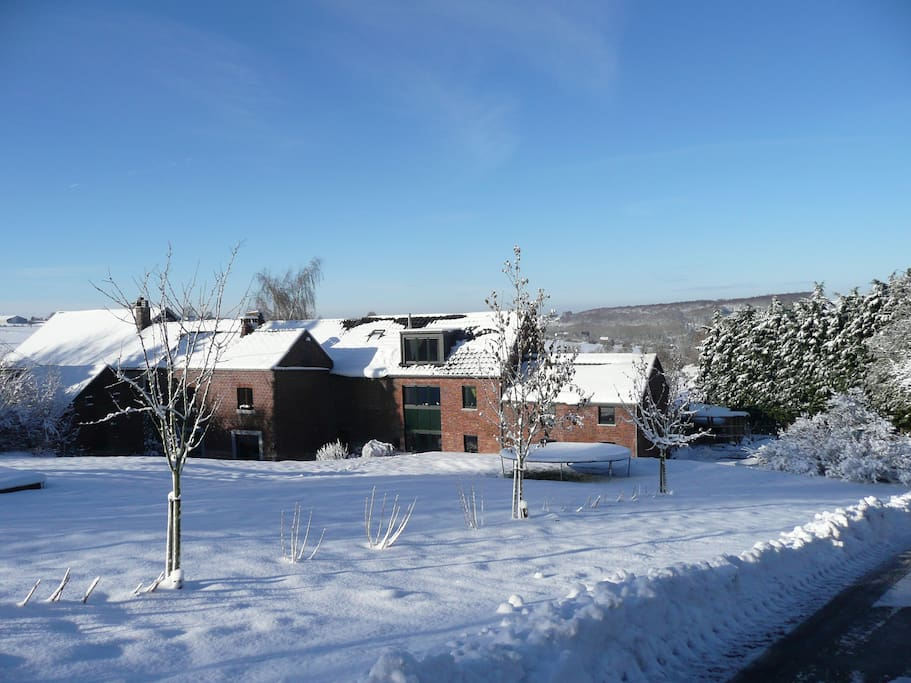 La Ferme de Berwausault en hiver