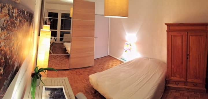 Chambre privée avec terrasse panoramique sur Metz