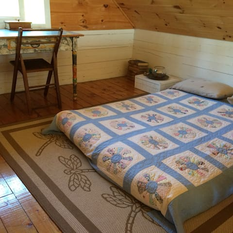 bedroom #3 - upper floor (double new futon) with writing desk