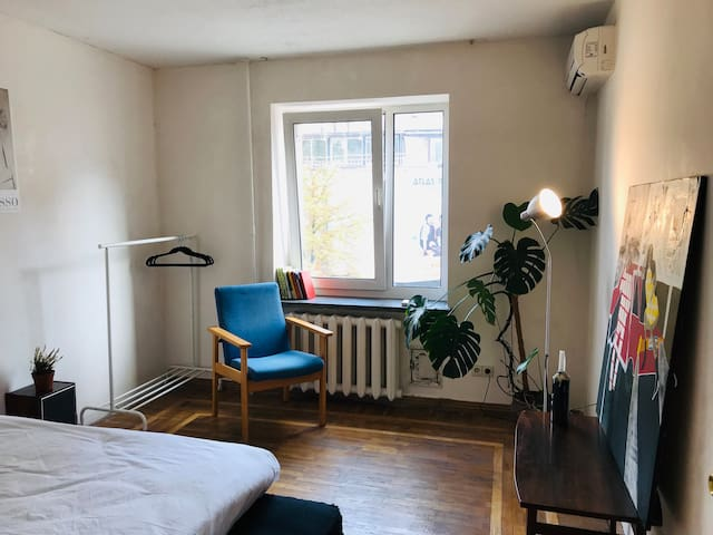 Cosy sunny room in center of Kyiv