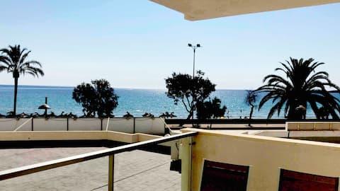 Modern apartment on the beach.