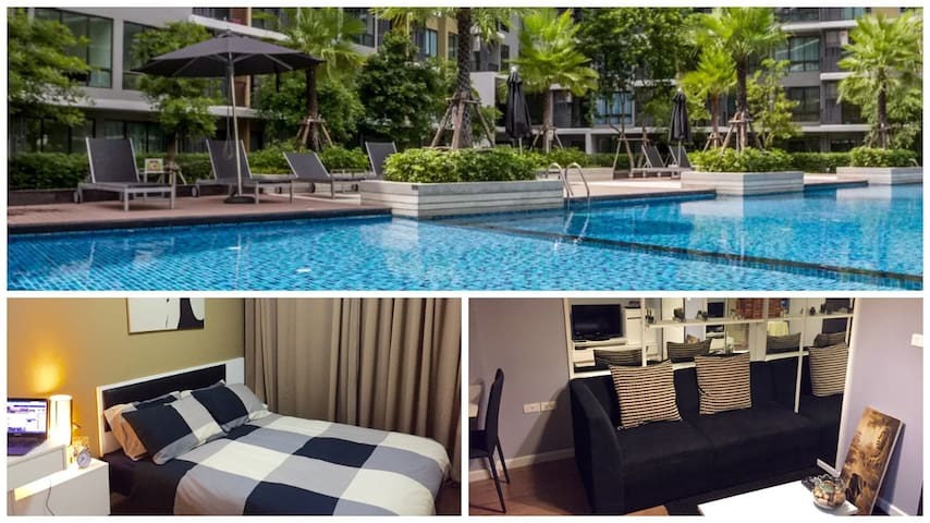 New 1BR in luxurious residence (pool and gym) - Bangkok