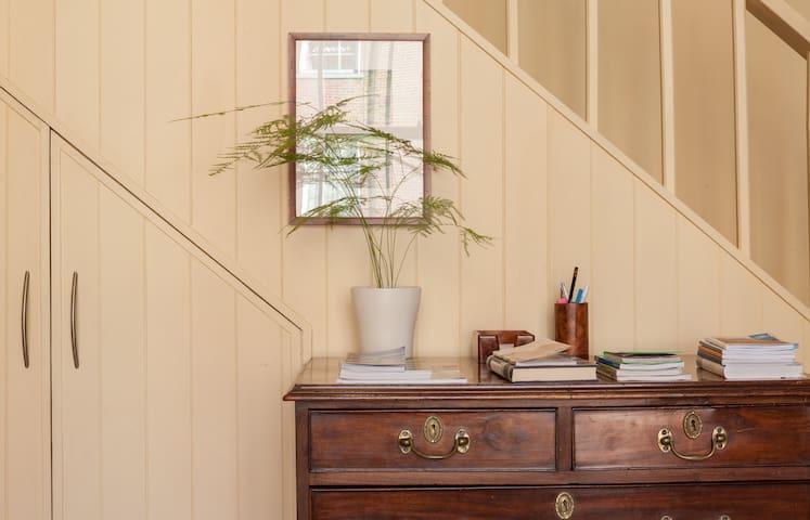 Period furniture and original art