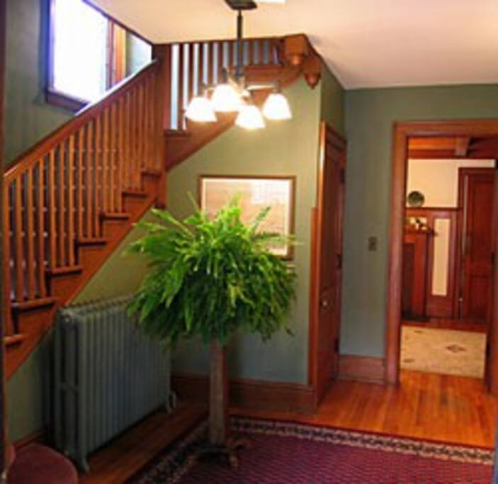 Entryway to get to the top floor.