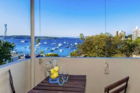 Dbl in ultra-modern ElizBay flat w stunning views! - Elizabeth Bay - Wohnung