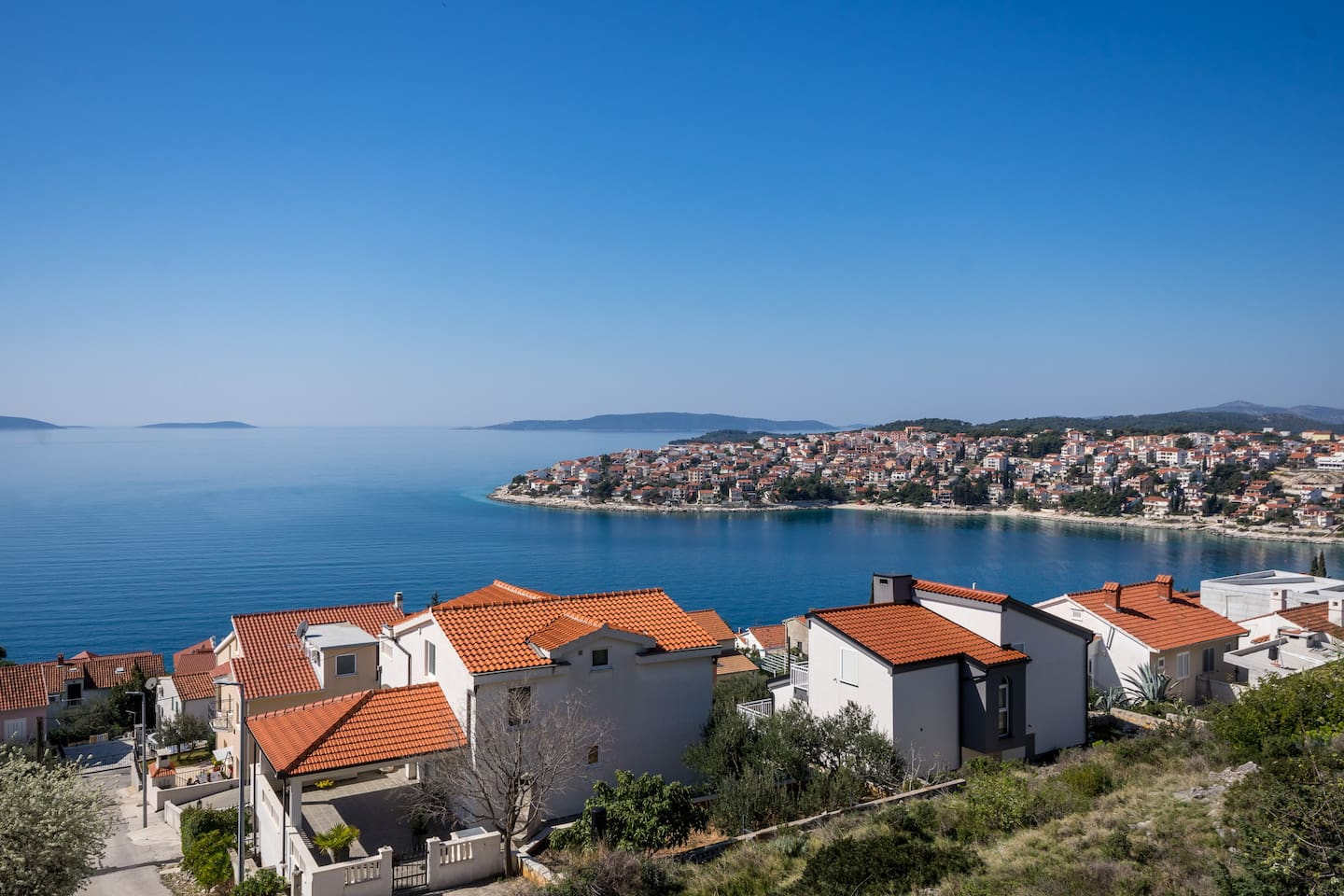 Beautiful view from the house, overlooking the crystal clear Adriatic