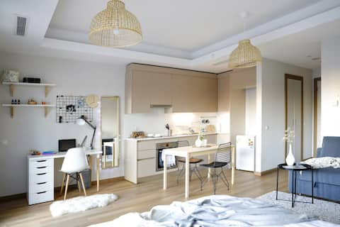 Stylish studio in Europe's largest living complex