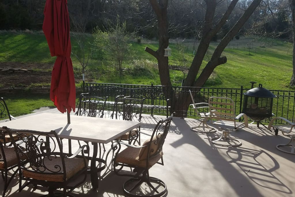 Enjoy an outdoor cookout on the amazing patio in a perfect nature environment