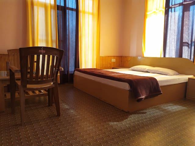 Duble bed room with balcony