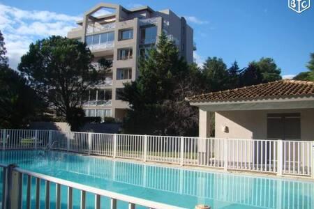 Studio centre ville résidence calme avec piscine
