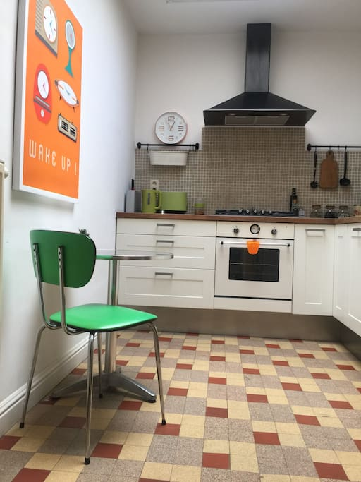 Fully equipped retro kitchen