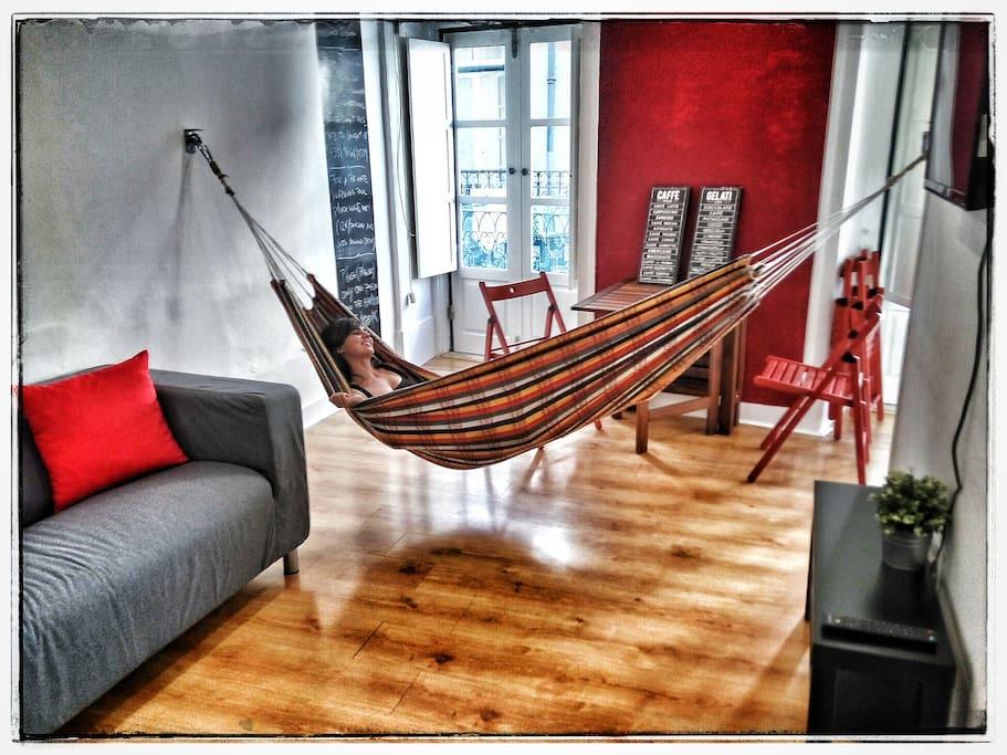 appartement avec hamac bairro alto appartements louer lisboa lisboa portugal. Black Bedroom Furniture Sets. Home Design Ideas