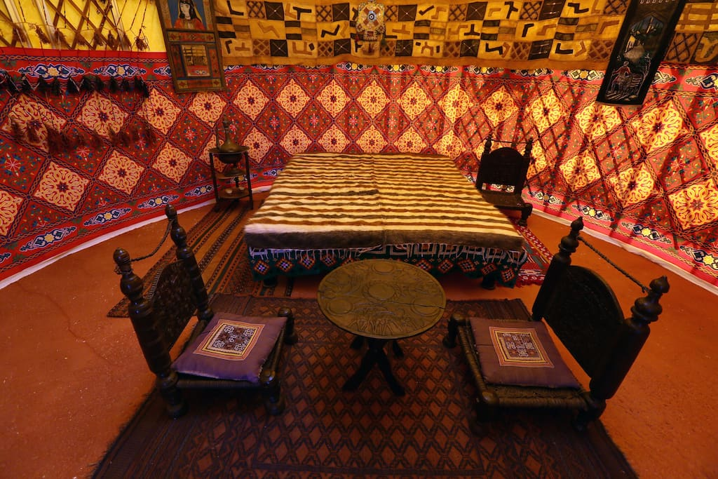 The interior is furnished with authentic furniture and decoration.