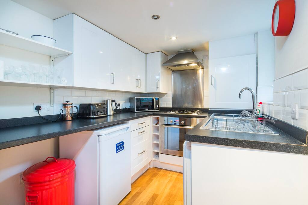 The kitchen comes fully equipped with everything you would expect from your own home