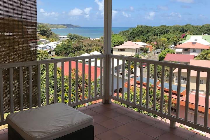 Maison individuelle bien ventilée vue mer