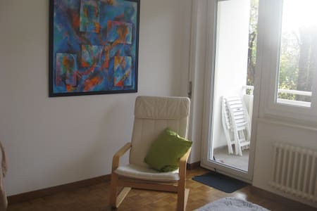 20 mq bright room with private balcony in a park - Genebra