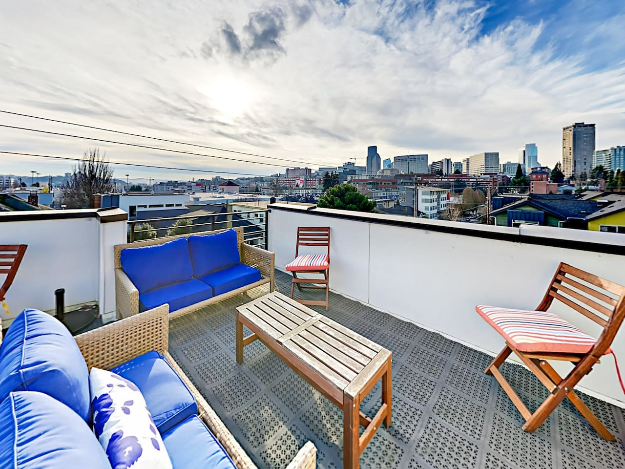 Welcome to Seattle! This posh Seattle townhome has an incredible rooftop deck.