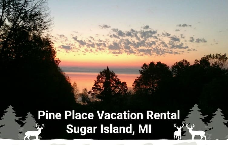 Pine Place on Sugar Island, MI, Lake George