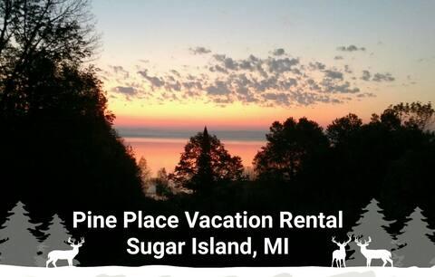 Pine Place on Sugar Island, MI, Lake George