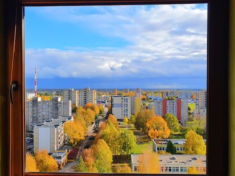 Mieszkanie z 2 sypialniami w Šiauliai-in na 14 piętrze