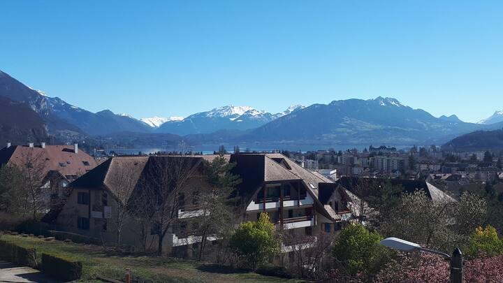 belle vue, 60 m2, piscine, proximité ville et lac