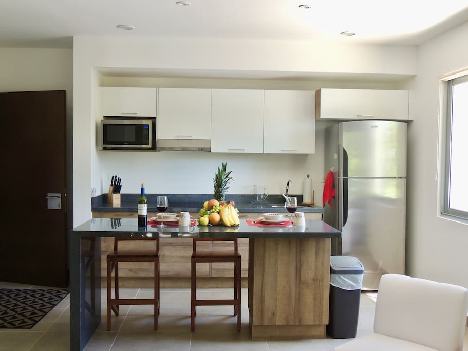 Cute kitchen with Stainless Steel Appliances