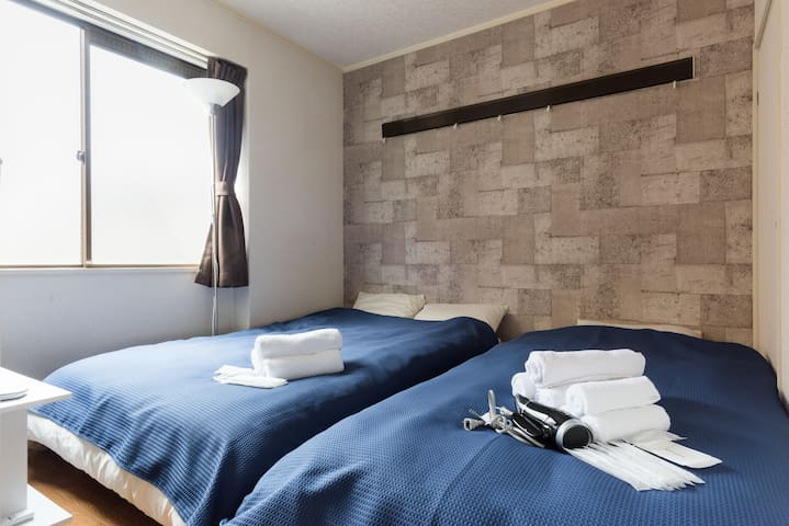 2 Bed Rm Up to 6 guest! 35 min to Ikebukuro TK1 - Kita Ward, Saitama - Apartamento